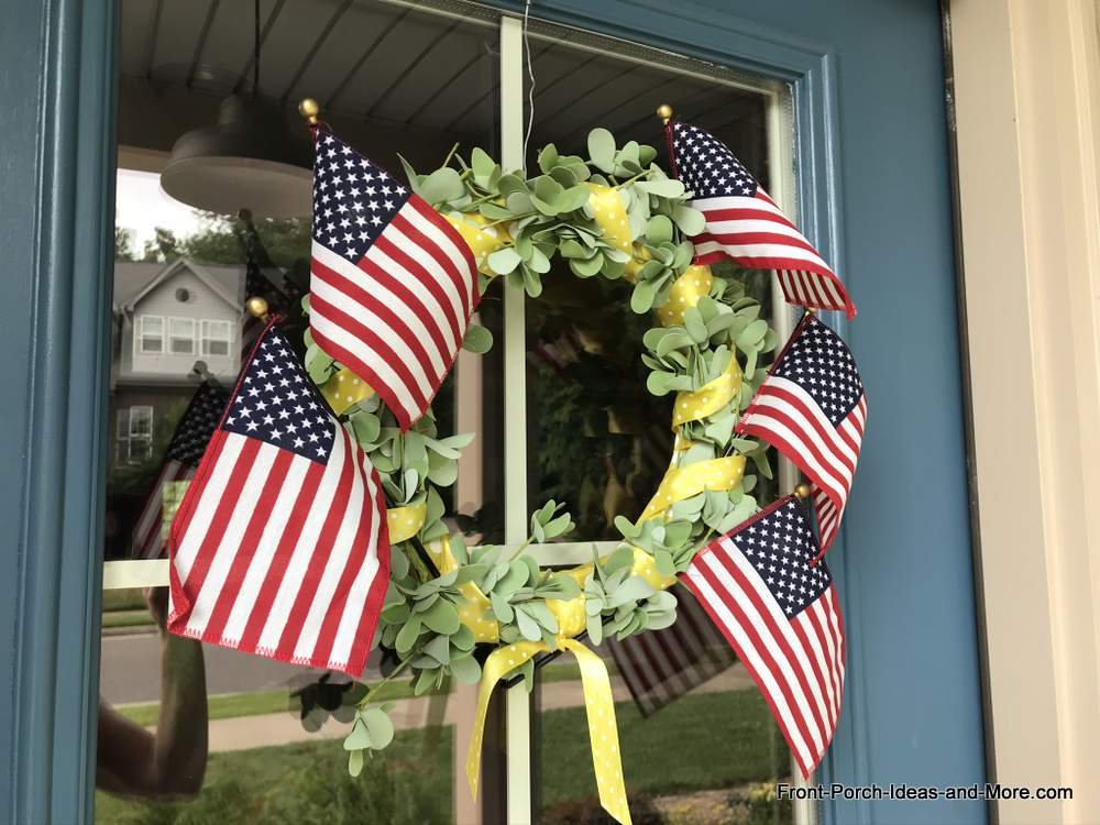 wreath celebrating the 4th of July